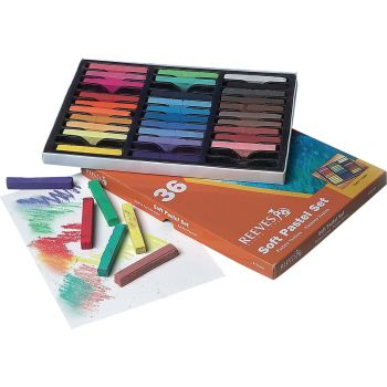 Reeves Soft Square Chalk Pastels - Assorted - Pack of 36