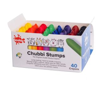Chubbi Stumps - Assorted - 57 x 14mm - Pack of 40