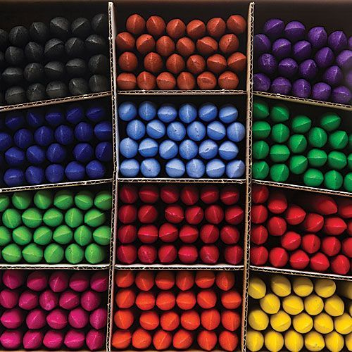 Coloured Chubbi Stumps - Assorted - 57 x 14mm - Class Pack of 288