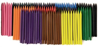Classmates Plastic Crayons - Assorted - Pack of 120
