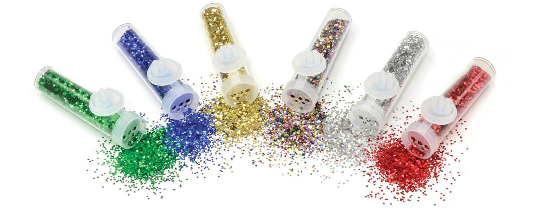 Glitter Phials - Assorted - 7.2g - Pack of 6