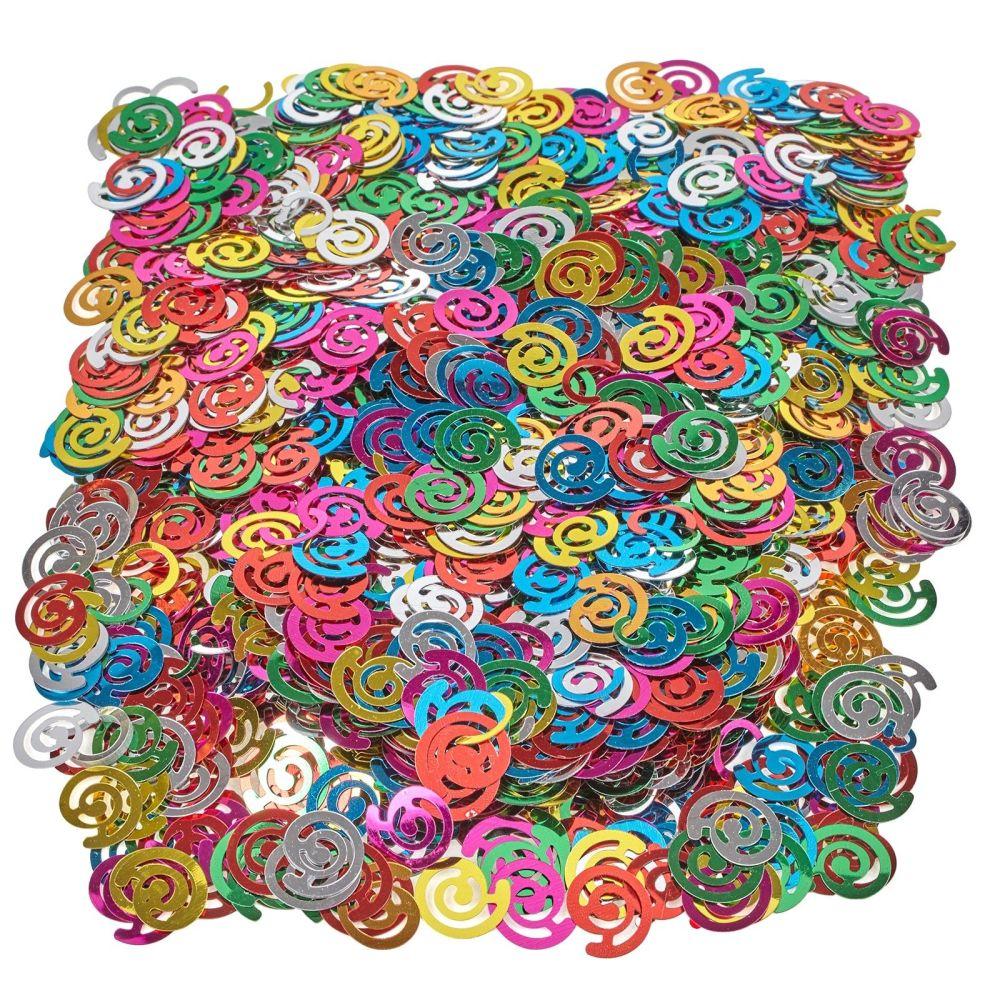 Swirl Sequins - Assorted - 200ml Tub