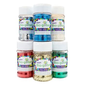 Bio-Glitter - Assorted - 100g - HE1765909 - Pack of 6