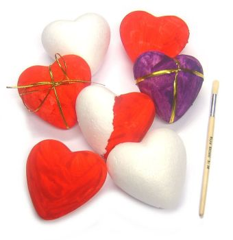Polystyrene Hearts - 8.5cm - Pack of 10