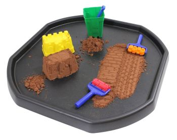 Black Play Tuff Tray - 100 x 100 x 8cm - HE1239842 - Each