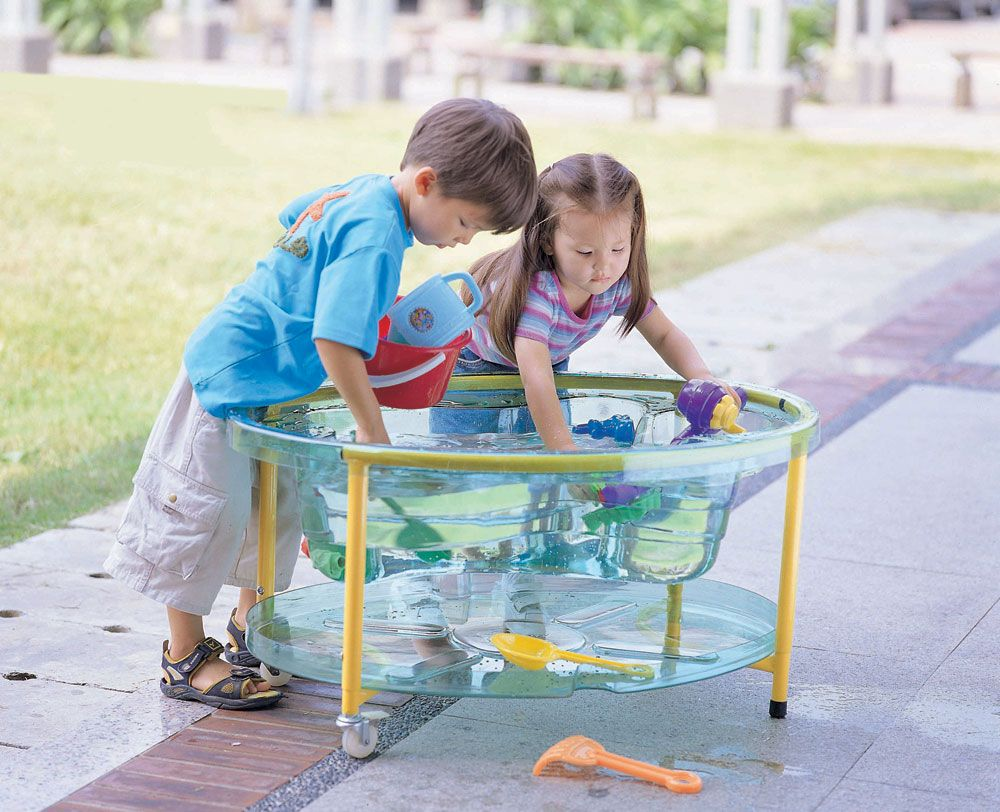 Sand and Water Table - Clear - 89 x 63 x 44 to 58cm - Each