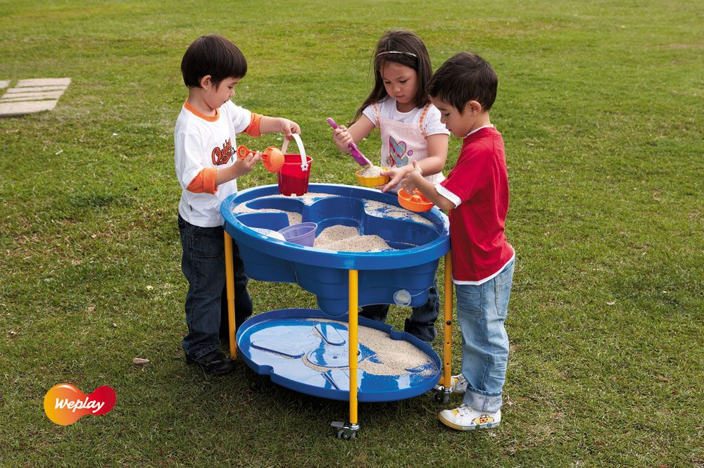 Sand and Water Table - Blue - 89 x 63 x 44 to 58cm - Each