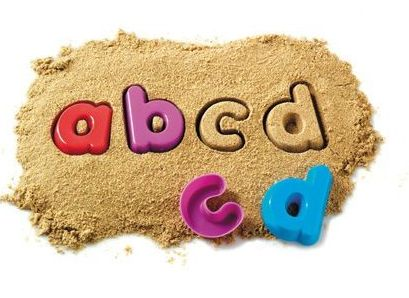 Lower Case Alphabetical Sand Moulds - Assorted - 7.5cm x 1.5cm - Pack of 26