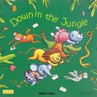 Down in the Jungle Classic Board Book with Holes - 16 x 16cm - Each