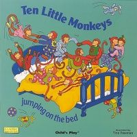Ten Little Monkeys Classic Books With Holes Board Book - 16 x 16cm - Each
