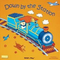Down by the Station Classic Board Book with Holes - 16 x 16cm - Each