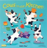 Cows In The Kitchen Classic Soft Cover Book with Holes - 29 x 29cm - Each