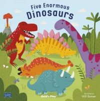 Five Enormous Dinosaurs Classic Soft Cover Book with Holes - 29 x 29cm - Each