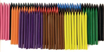 Classmates Plastic Crayons - Assorted - Pack of 300