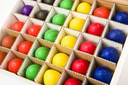 Chubbie Wax Egg Crayons - Assorted - 6cm - Class Pack of 30