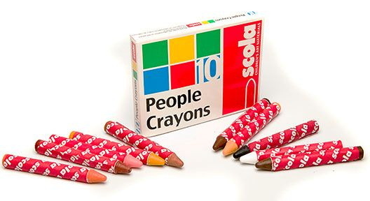 People Crayons - Assorted - 78 x 10mm - Pack of 10
