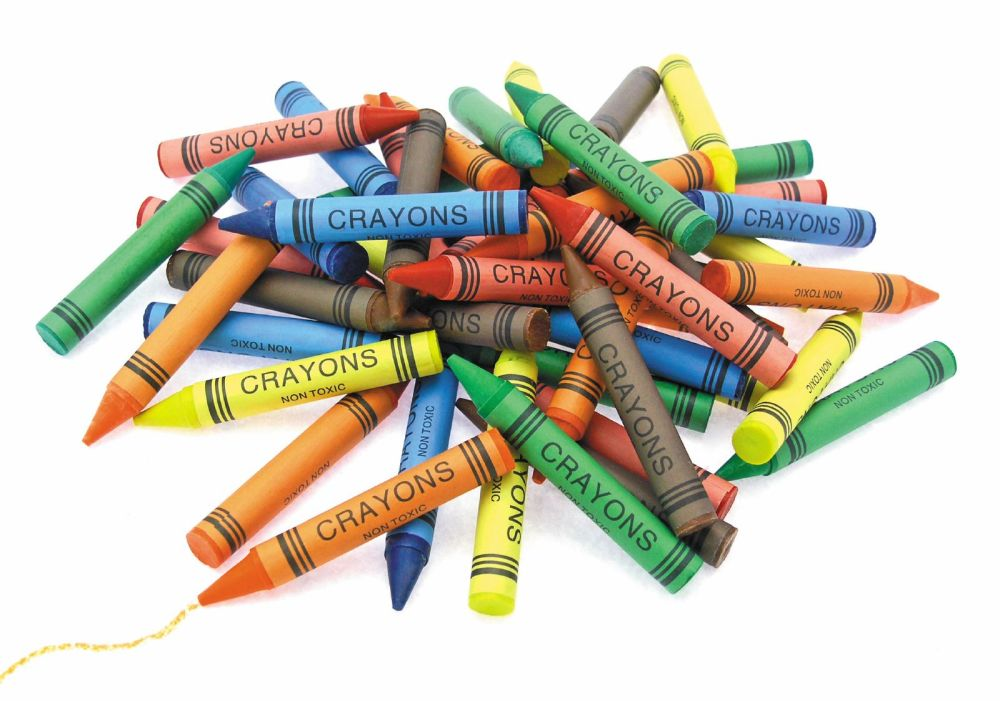 Super Value Jumbo Size Wax Crayons - Assorted - 100 x 14mm - Pack of 6