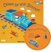 Down by the Station Classic Soft Cover Book with Holes & Audio CD - 29 x 29cm - Each