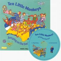 Ten Little Monkeys Classic Books With Holes Soft Cover Book with CD - 29 x