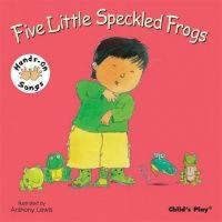 Five Little Speckled Frogs Hands-On Songs Board Book - 21 x 21cm - Each