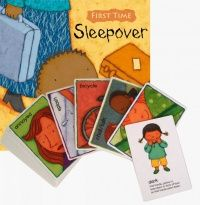 First Time : Sleepover Soft Cover Book + Set to Sign Cards  - 21 x 21cm - Each