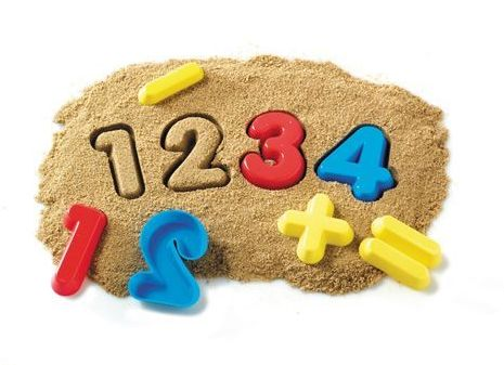 Numerical Sand Moulds - Assorted - 7.5 x 1.5cm - Pack of 26