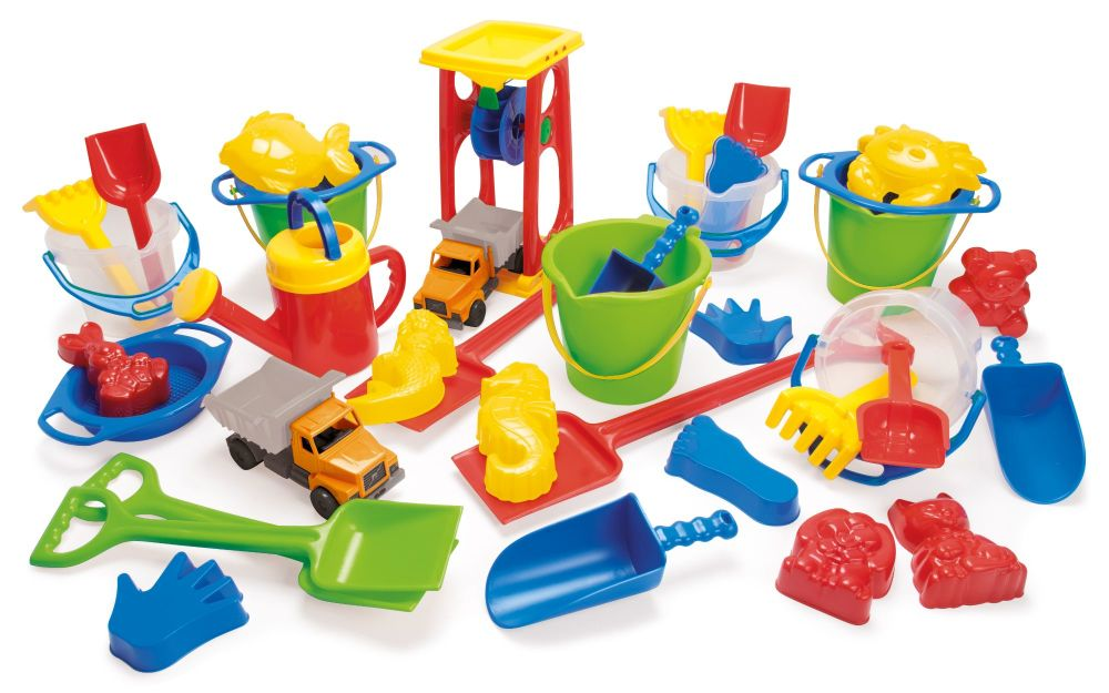 Sand and Water Fun Accessory Pack - Assorted - Pack of 38