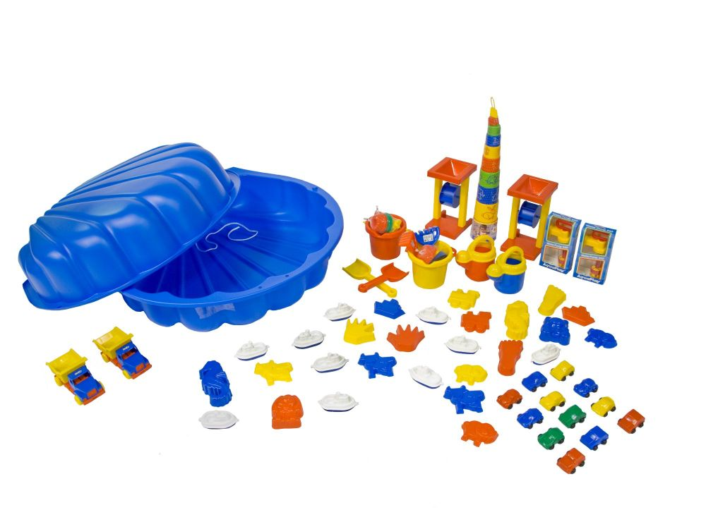 Shell Shaped Sand and Water Pit + Accessories Pack