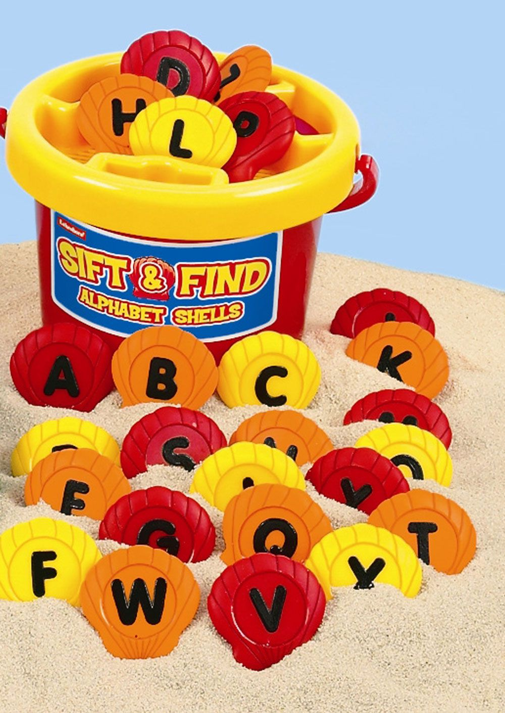 Sift and Find Alphabet Shells with Bucket - Assorted - Per Set