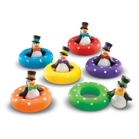 Smart Splash Colour Match Penguins - Assorted - Pack of 6