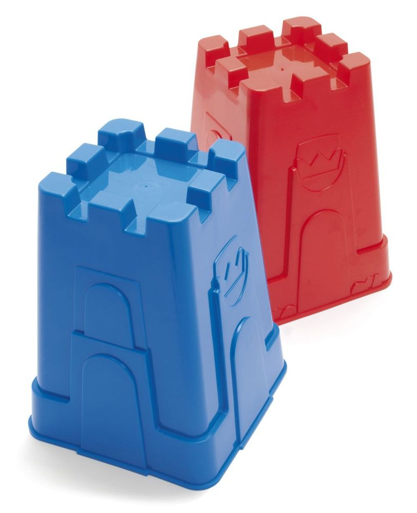 Tall Tower Castle Sand Moulds - Assorted - 19cm - Pack of 8