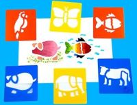 Animal Washable Paint Stencils - Assorted - AP/034/WSA - Pack of 6
