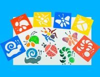 Bugs Washable Paint Stencils - Assorted - AP/030/WSB - Pack of 6