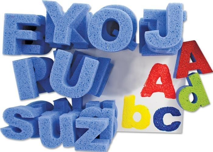 Large Upper & Lower Case Sponge Letters - Assorted - 9.5cm - Pack of 52