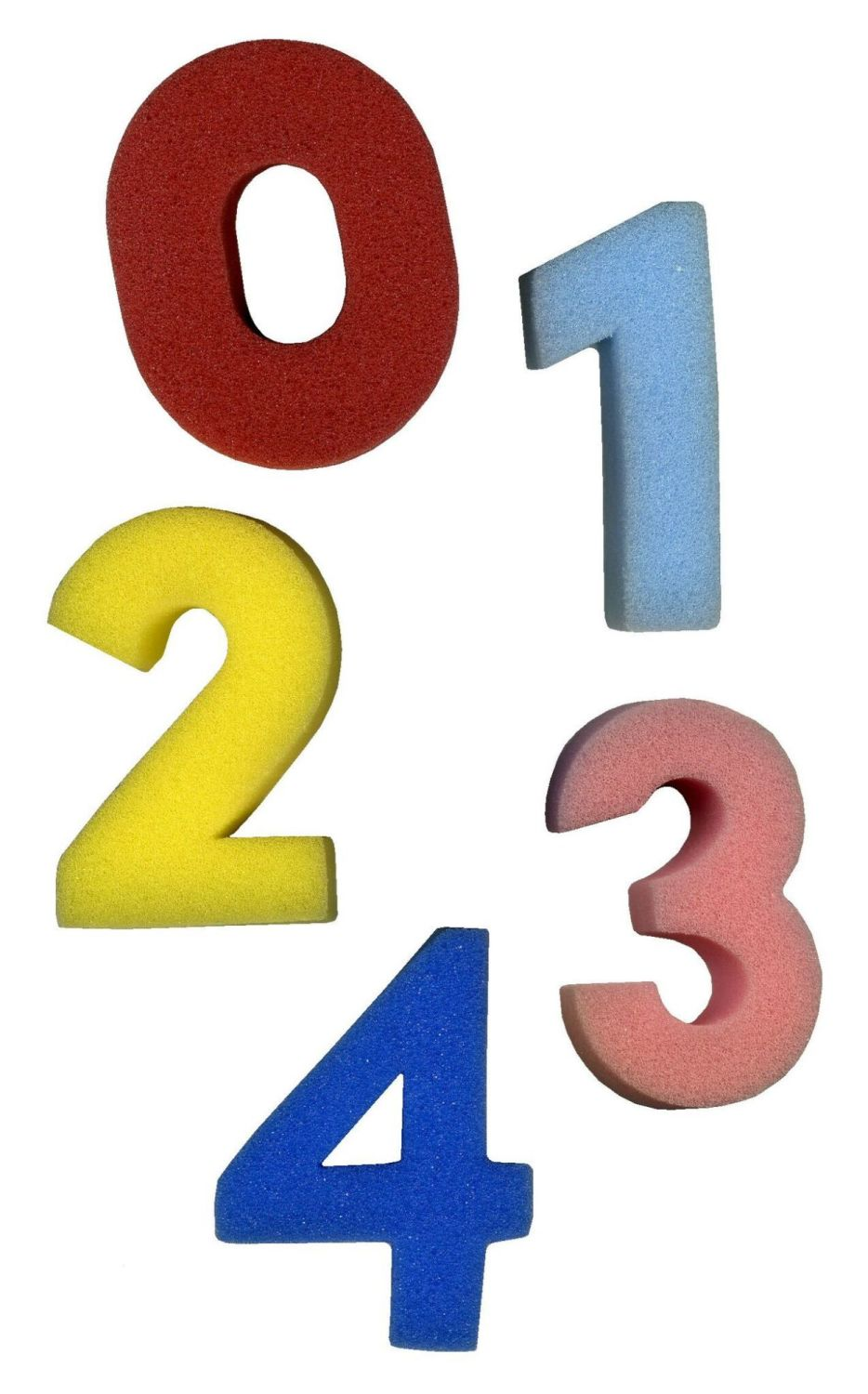 Number Painting Sponges - Assorted - 6 x 2.5cm - Pack of 10