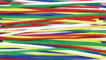 Bright Chenille Pipe Cleaners - Assorted - 6mm x 30cm - HE1672806 - Pack of 100