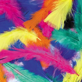 Craft Marabou Feathers - Assorted - 50g Bag - Each