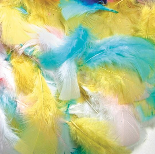 Spring Marabou Feathers - Assorted - 14g Bag