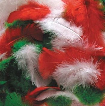 Christmas Marabou Feathers - Assorted - 14g Bag - Each