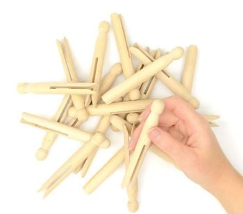 Natural Craft/Dolly Pegs - Pack of 24
