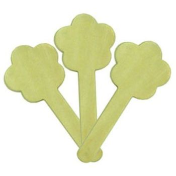 Flower Shaped Wooden Craft Sticks - Assorted - 12cm - AP/779/WCSF - Pack of 10