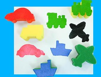 Transport Painting Sponges - Assorted - Pack of 5
