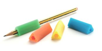Standard Size Triangular Pencil Grips - Assorted - Pack of 10