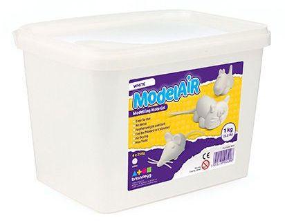 White ModelAir Dough - 4 x 250g - 1kg Tub