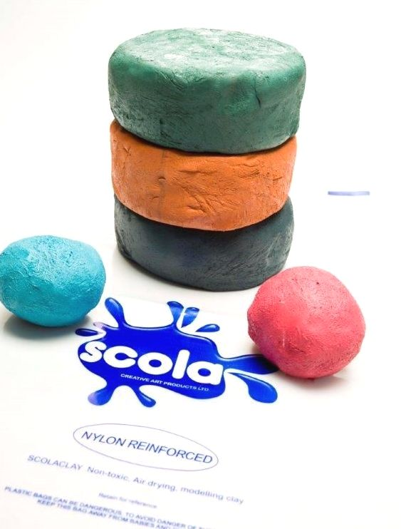 Coloured Air Drying Clay - Assorted - 5 x 2.5kg