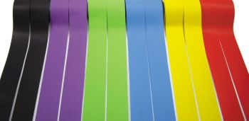 Coloured Fadeless Straight Card Border Rolls - Assorted - 57mm x 12.5m - Pack of 12