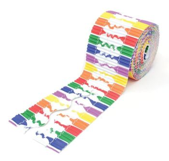 Crayons Printed Design Bordette Corrugated Scalloped Edge Border Rolls - 57mm x 3.75m - Pack of 2