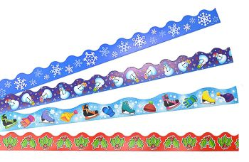 Christmas Terrific Border Trimmers - Assorted - 4 x 12 x 1m Strips - Value Pack