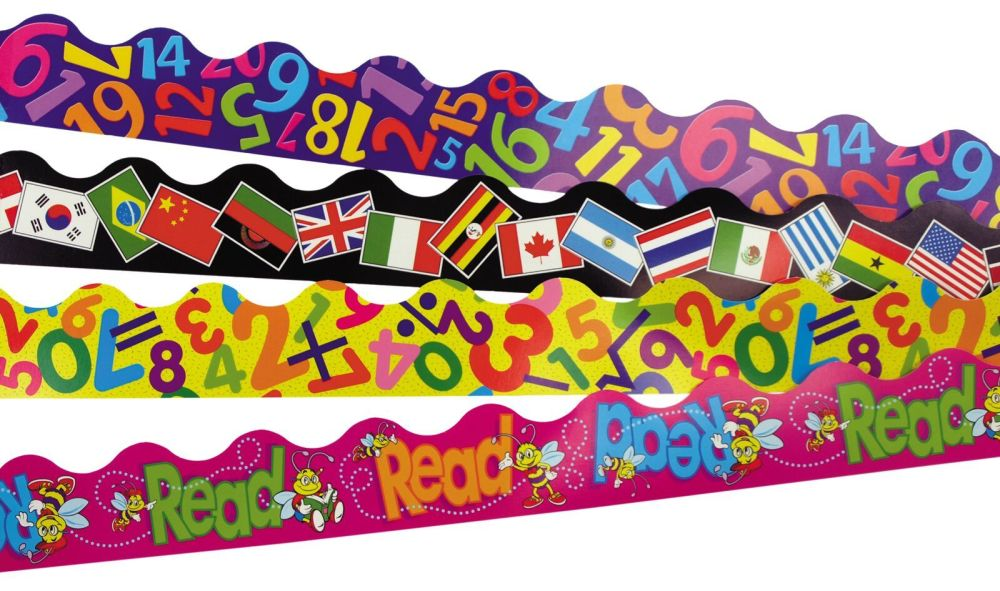 Curriculum Terrific Trimmers - Assorted - 4 x 12 x 1m Strips - Value Pack