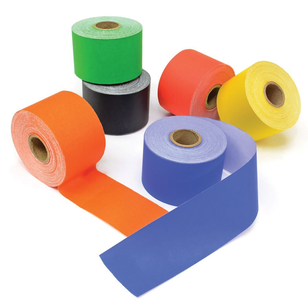 Bright Poster Paper Straight Edge Border Rolls - Assorted - 48mm x 50m - Pa